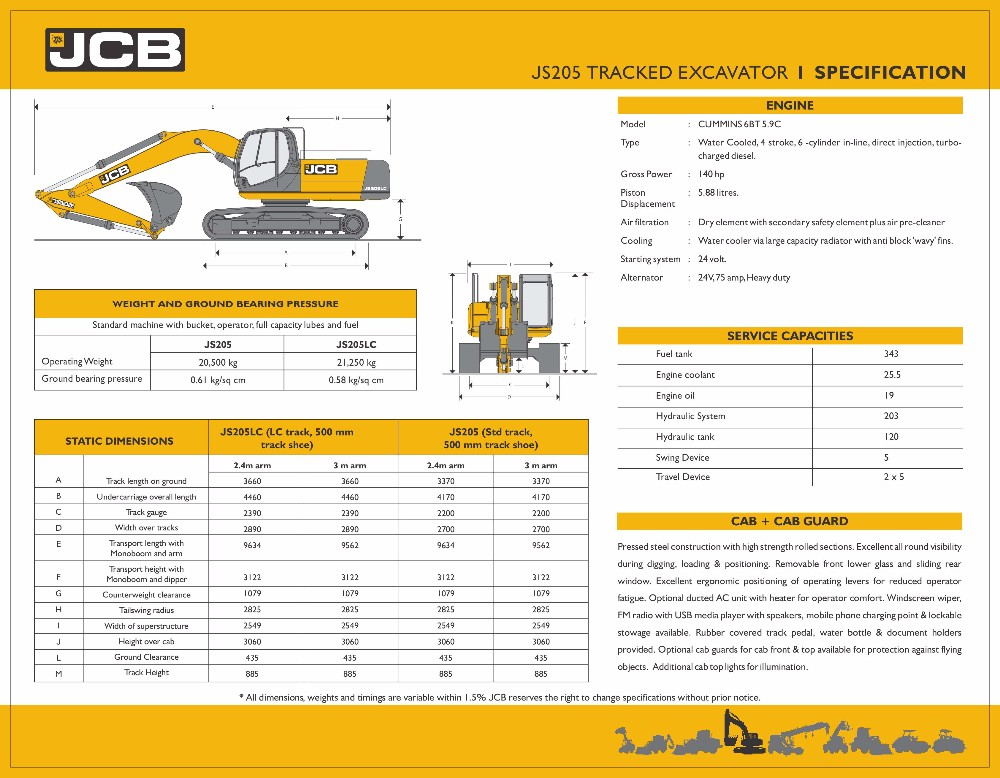 JCB JS205LC HYDRAULIC TRACKED EXCAVATOR, View EXCAVATOR, JCB Product  Details from OM POWER ENGINEERS on Alibaba com