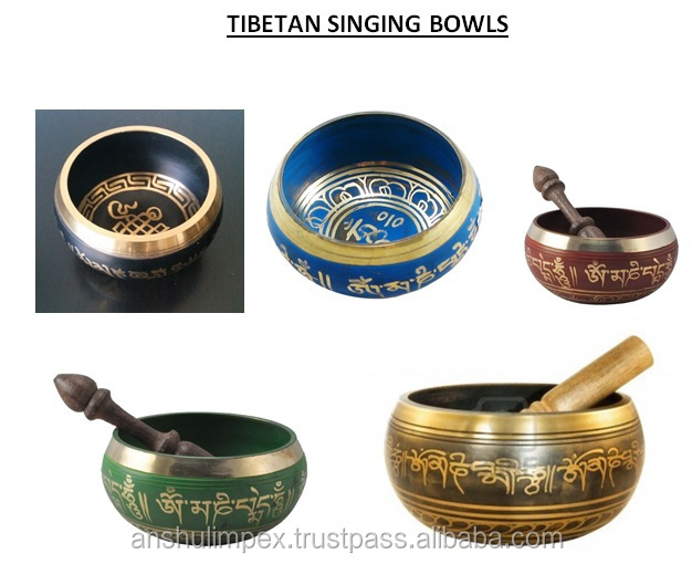 Blue Tibetan Singing Bowl
