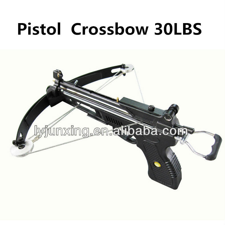 Hunt crossbow 2a 30lbs 120fps velocity black for Fishing crossbow pistol