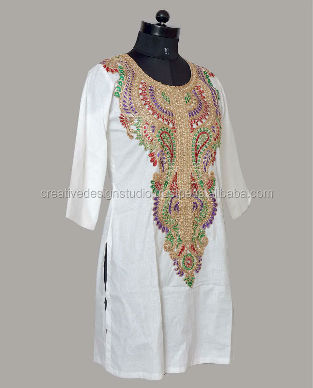 Cotton Coding Embroidery Tops - Buy Kurta / Kurti /ethnic Kurta,Embroidery  Tops,Embroidery Kurtas Product on Alibaba com