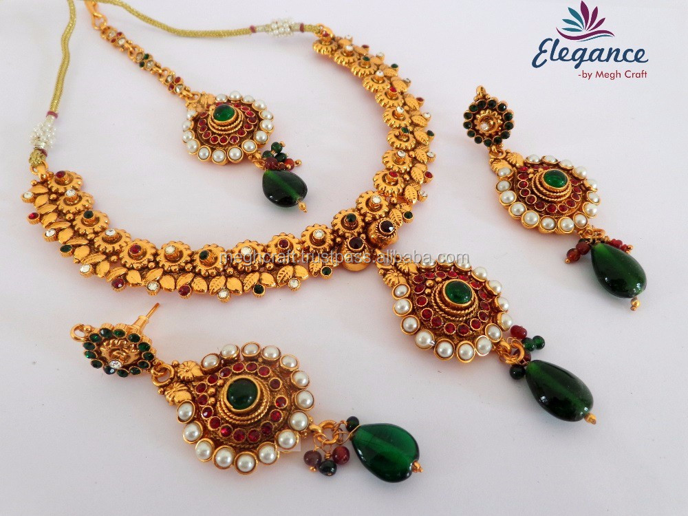128b549e0 Bollywood style gold plated pearl jewelry set - 2016 Traditional wear one  gram gold plated jewelry set - Pearl jewelry set