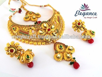 South Indian Bridal Jewellery One Gram Gold Plated Bridal Necklace