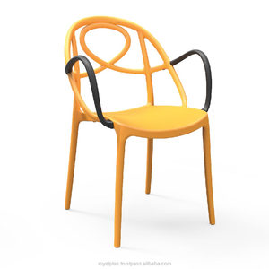 Twister plastic chair with Arms