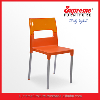 Plastic Cafeteria Chairs/ Resin Cafe Furniture From India