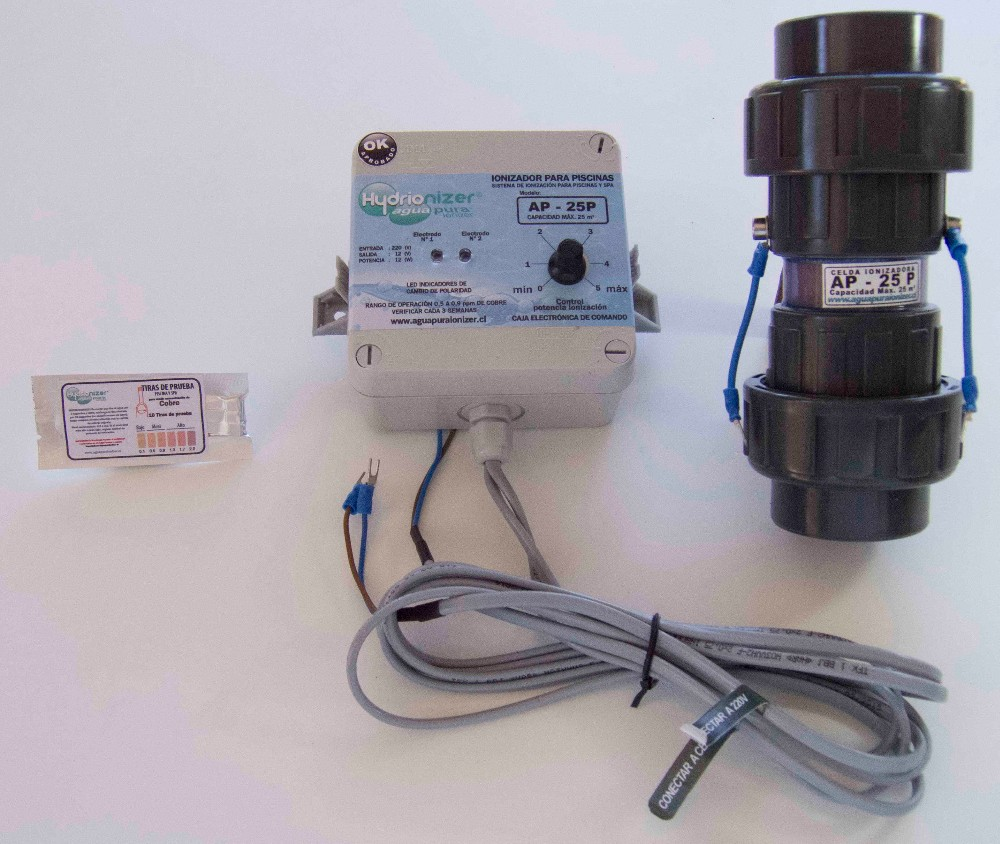 Electric pool ionizer / water pool cleaner AP25-P