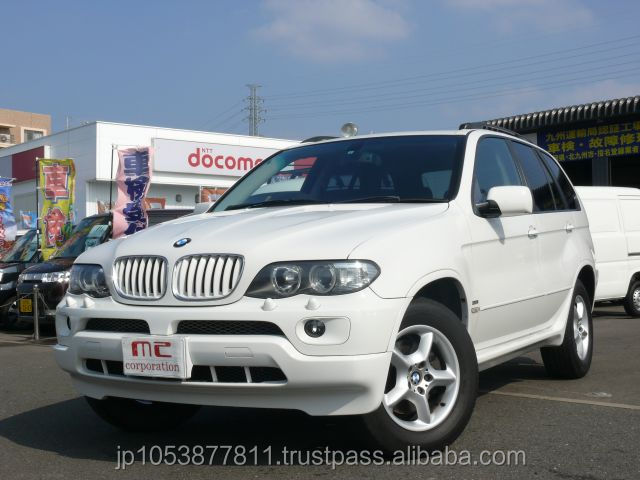 Popular and Right hand drive used cars japan imported BMW X5 2004 with Good Condition
