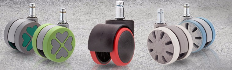 DYWT 6005BUG-EBK Braked Castors 5 Swivel Bed Casters with Brakes