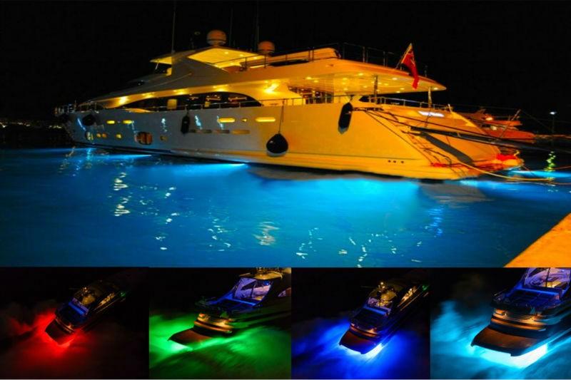 Marine Stainless 6W IP68 Waterproof LED Underwater Light Boat Yacht light