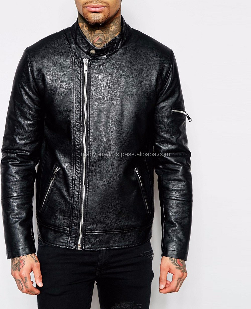 Leather jacket karachi - Fashion Black Mens Hooded Pakistan Leather Jackets For Men Karachi