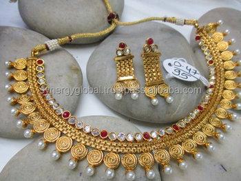 Bridal Kundan Jewellery Two Line Set | Jewellup