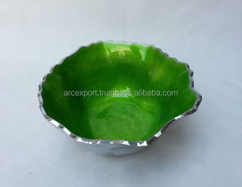 Round Antique Green Coloured Fancy Bowl For