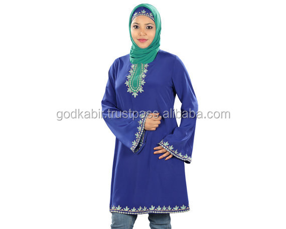 Donne Kurtis, Musulmano Casual & Party Wear Camicetta, Signore Lunga Top/Lunga Piena Plus size Ultime Abaya/Avaya per le Donne Islamiche.