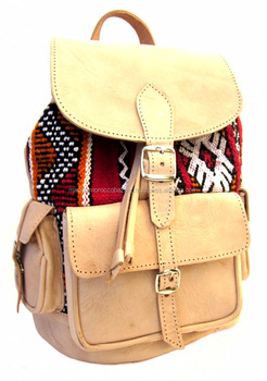 250b6fc4d6f1 Best Quality Moroccan Handmade Genuine Leather Kilim Backpacks - Buy ...