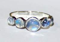 AAA Rainbow Moonstone Sterling Silver Ring