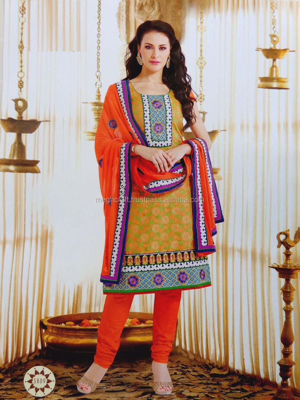 Fashion Wear Printed Salwar Kameez - French Crepe Material Suit ...