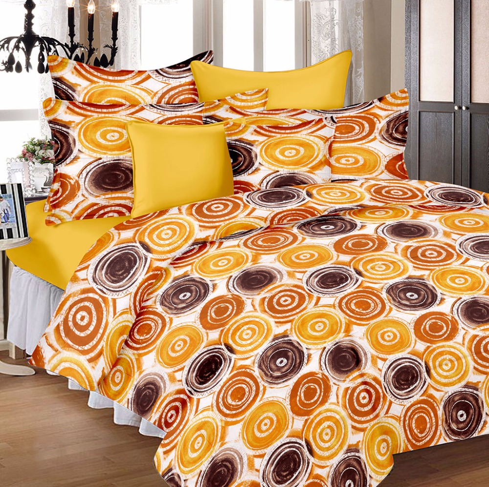 S-Touch Solid Colorful Designer 1 Double Bedsheet with 2 Pillow Covers