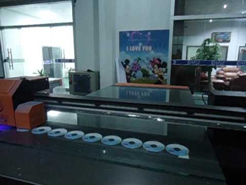 CD printer,digtial CD cover printing machine uv CD flatbed printer machine