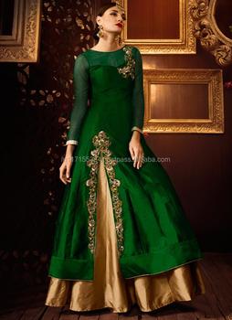 f5e4f713061 Long Sleeve Anarkali Salwar Kameez - Manufacturers Wholesale Designer  Anarkali Suits In Surat - Frock Suits For Women - Buy Long Sleeve Anarkali  ...