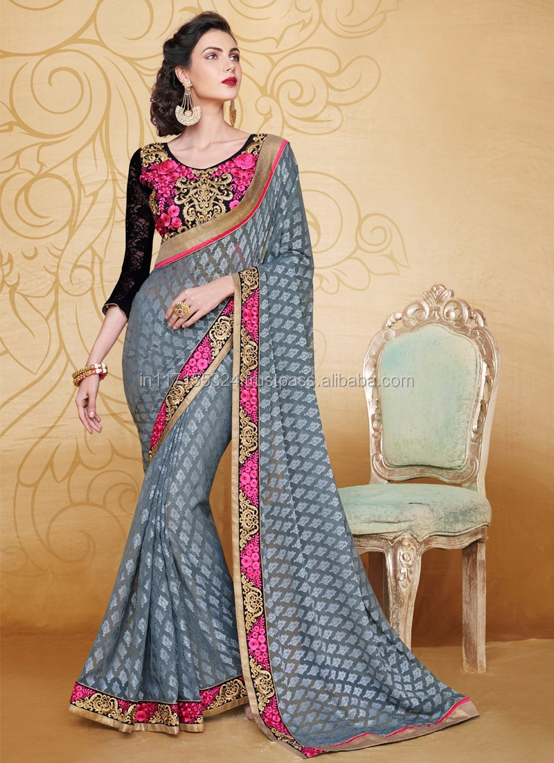 8f13adc674 South indian saree - Sarees wholesale in Hyderabad - Party wear brasso saree  - Lowest price