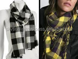 plaid 2019 hifashion cotton scarf