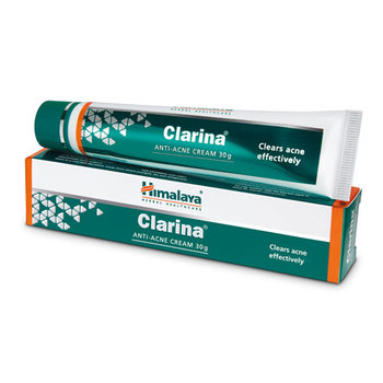 Himalaya Clarina Anti Acne Cream - Clears Acne Effectively & Safely - Antimicrobial, Anti Inflammatory, Wound Healing - 30g