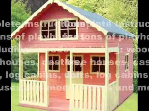 get quotations diy kids playhouse playhouse plans designs and ideas - Playhouse Designs And Ideas
