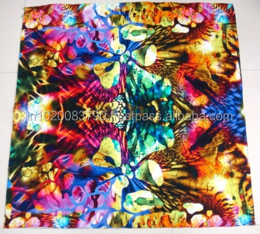 customised digital print silk scarf