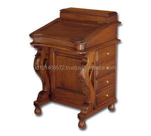 Antique Style Mahogany Davenport Desk with Drawers Office Furniture