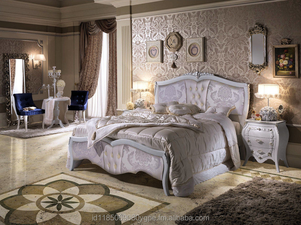 White Victorian Luxury Bed Room Set
