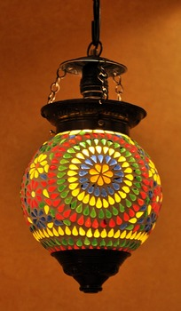 Handmade indian decorative multi color ceiling glass lamp shade handmade indian decorative multi color ceiling glass lamp shade aloadofball Choice Image