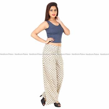 8012e8b99c0d Handmade Women Wear Floral Printed Casual Loose Trousers Wide Leg Palazzo  Long Plus Size Yoga Pants