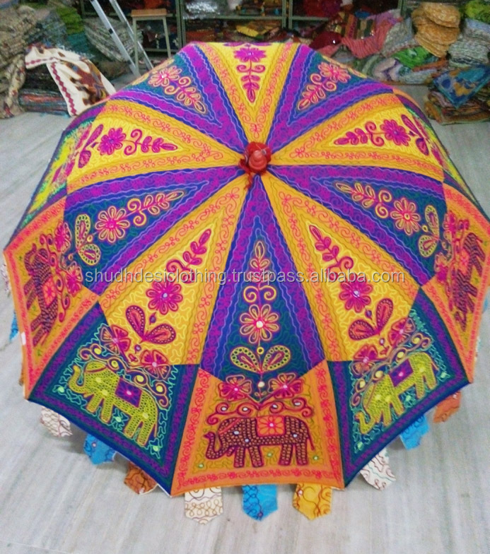 Floral Amp Elephant Design Handmade Embroidery Indian