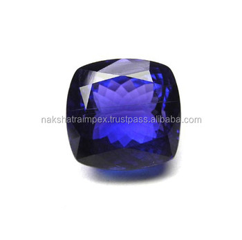 Top AAAA Quality Deep Blue Tanzanite Square Cut Loose Gemstone