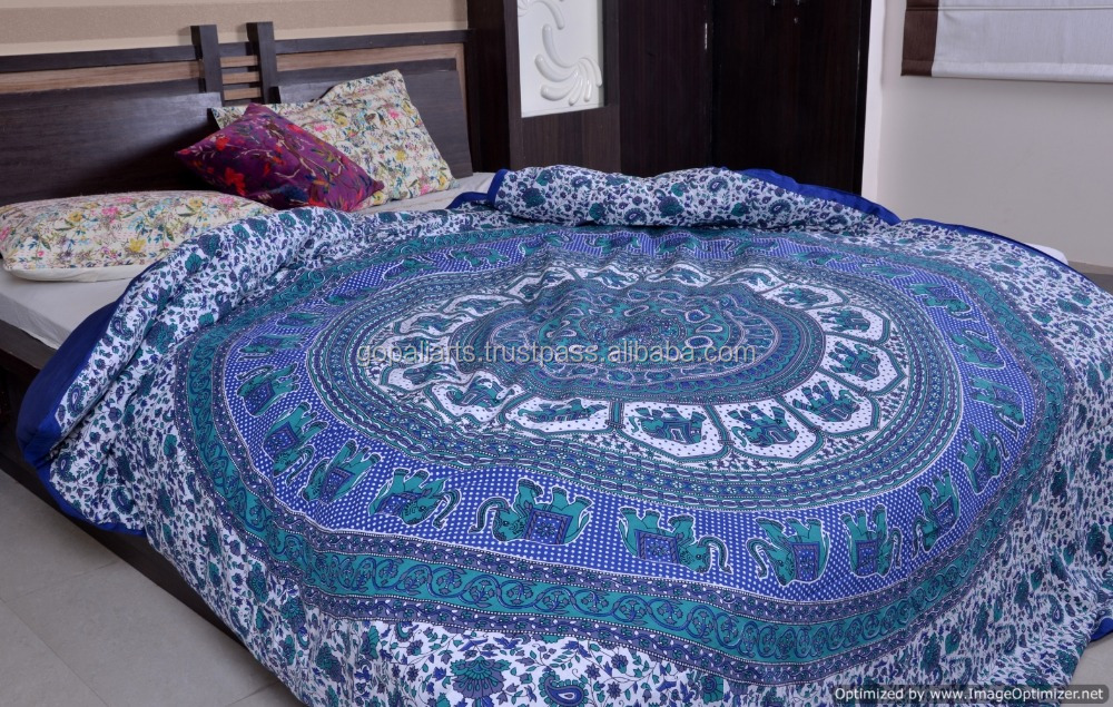 L phant indien mandala housses de couette jet housse de couette hippie couvre lit buy couvre - Housse de couette style indien ...