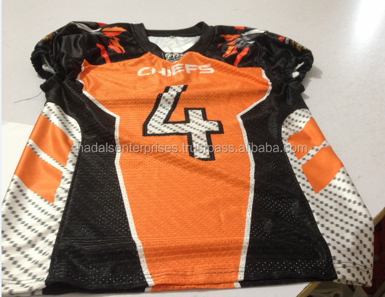 Youth american football uniform, sublimated american football uniform, tackle twill american football uniform