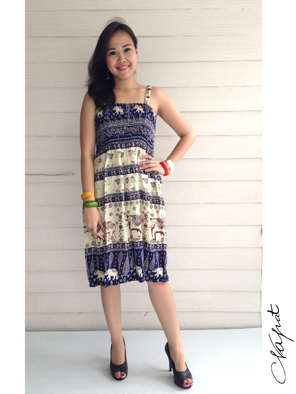 fc833cc73b9f Bohemian Summer Bangkok Beach Style Sleeveless Maxi Dress - Buy ...