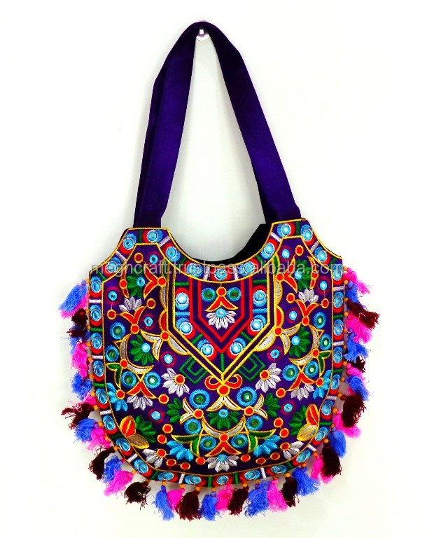 Boho handbags-Wholesale Indian Traditional Handmade tote bags-Banjara style  shoulder bags-Kutchi embroidery hand purse 5575ba2f99084