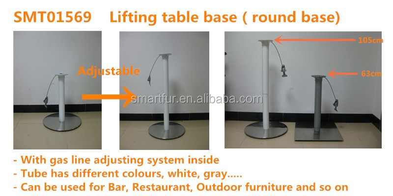 Hand Crank Lift Base Japanese Low Table