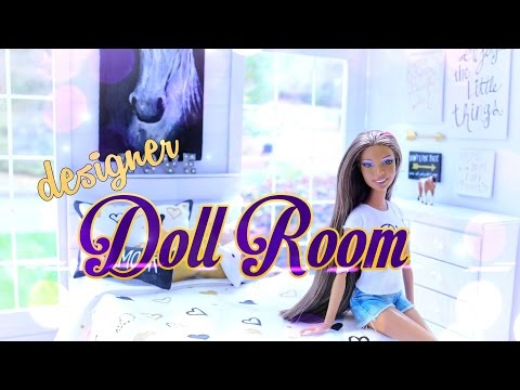 How to Make a Doll Room in a Box: Designer Doll Room - Doll Crafts