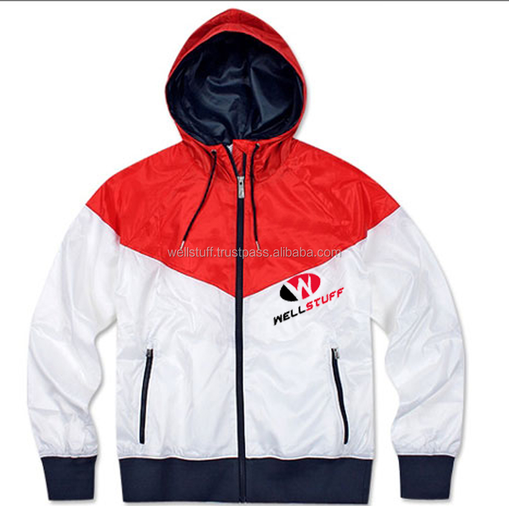 Latest design windbreaker jacket / Hooded windbreaker jacket