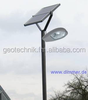 Led Solar Bike Path Light With Pole - Factory In Germany