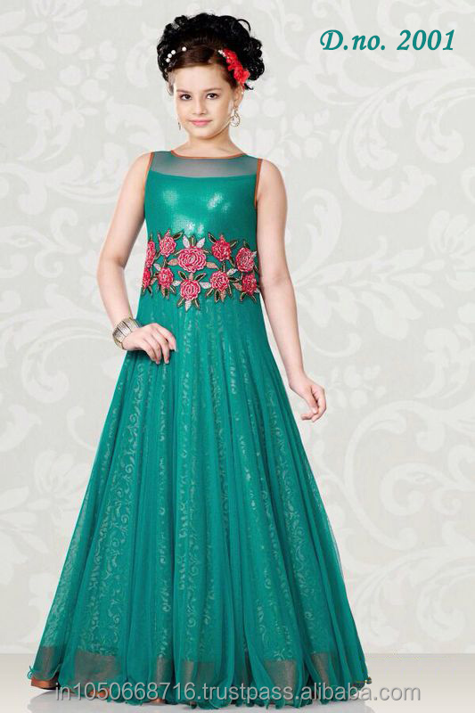 76274d7d0d99 Designer Party Wear Gown Style Lehenga For Children kids - Buy ...