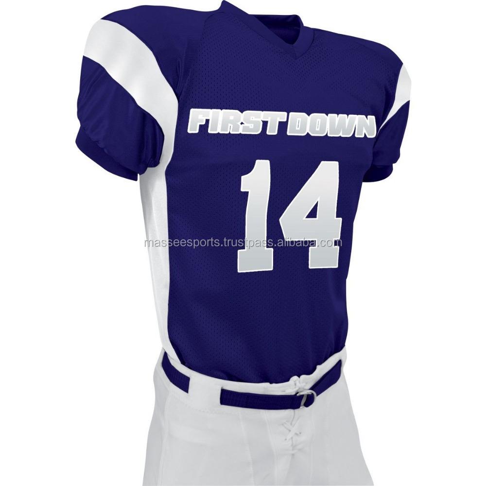 Blank White American Football Jersey