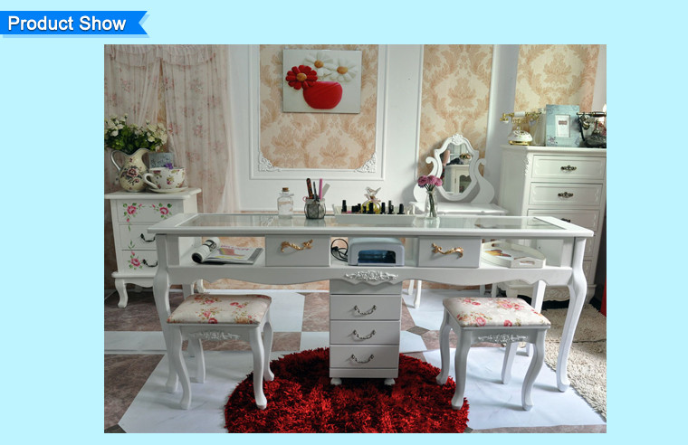 Doshower Fibre Glass Nail Simple Design Mdf Manicure Table With ...