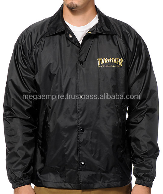 Custom Made Coach Jacket with Custom Logo, Patches, Embriodery, Inside Printing, Sublimation Lining For Unisex