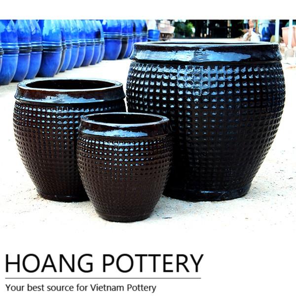 Aqua Green Large Round Glazed Ceramic Pots / Planter - Aqua Green Large Round Glazed Ceramic Pots / Planter - Buy Aqua