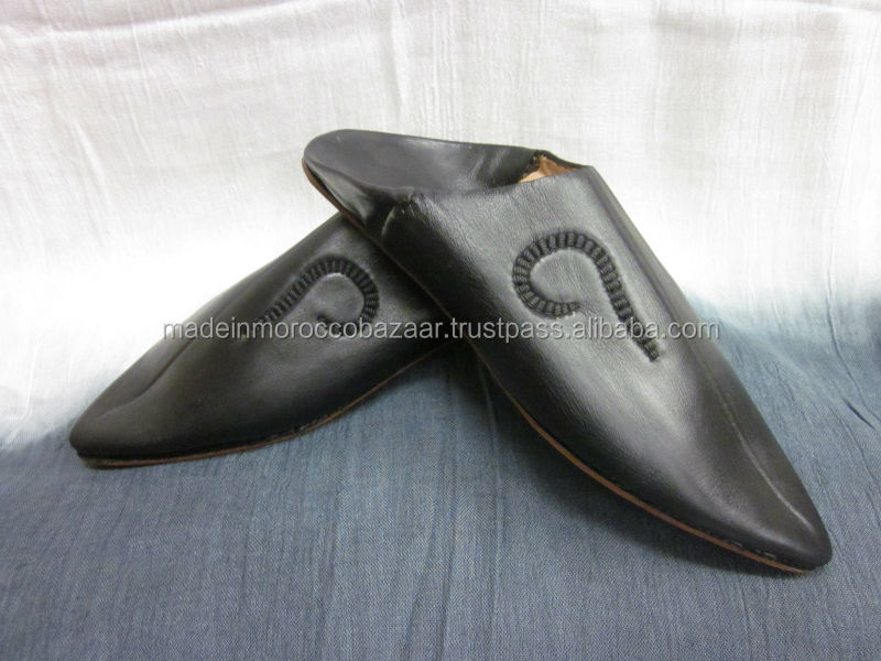 Special Morocco Handmade White Genuine Leather Mens Slippers