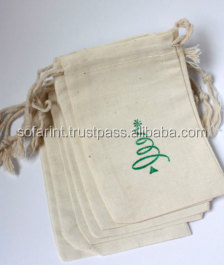 Organic Cotton Muslin Bag/ Promotional Muslin Bag/ Cotton Gift Bag