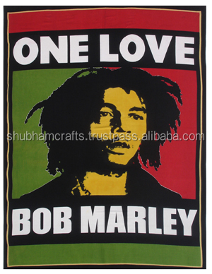 rasta cotton bob marley printed tapestry wholesale lot
