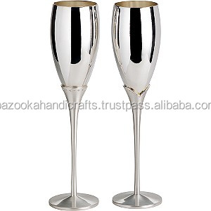 Wine Goblet Brass Goblet Silver Plated Wine Goblet
